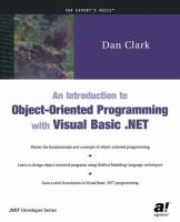 An Introduction to Object-oriented Programming With Visual Basic .NET