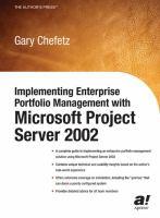 Implementing Enterprise Portfolio Management With Microsoft Project Server 2002