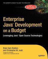 Enterprise Java Development on A Budget