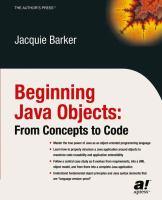 Beginning Java Objects