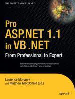 Pro ASP.NET 1.1 in VB.NET