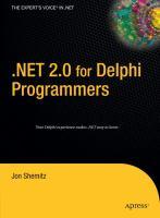 NET 2.0 for Delphi Programmers