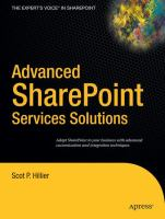 Advanced SharePoint Services Solutions