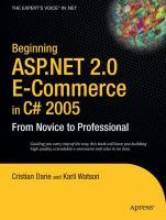 Beginning ASP.NET 2.0 E-commerce in C#