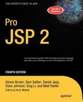 Pro JSP 2, Fourth Edition