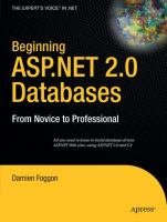 Beginning ASP.NET 2.0 Databases