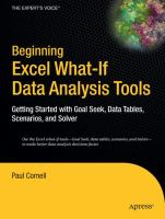 Beginning Excel What-if Data Analysis Tools
