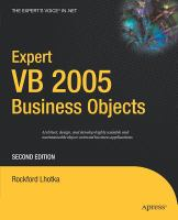 Expert VB 2005 Business Objects, Second Edition