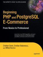 Beginning PHP and PostgreSQL E-commerce