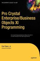 Pro Crystal Enterprise/Business Objects XI Programming