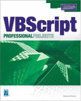 Microsoft VBScript Professional Projects