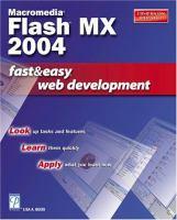 Macromedia Flash MX Fast & Easy Web Development