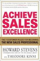 Achieve Sales Excellence