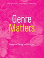 Genre Matters