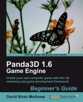 Panda3D 1.6 Game Engine