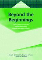 Beyond the Beginnings