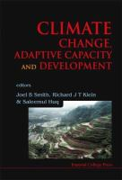 Climate Change, Adaptive Capacity and Development