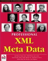 Professional XML Meta Data