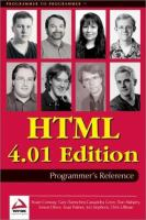 HTML 4.01 Programmer's Reference