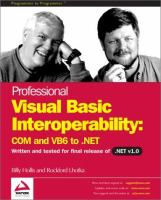 Professional Visual Basic Interoperability