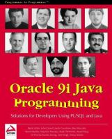 Oracle 9i Java Programming