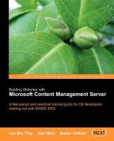 Building Websites With Microsoft Content Management Server