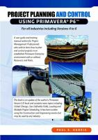 Project Planning & Scheduling Using Primavera P6 for All Industries Including Versions 4 to 6