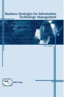 Business Strategies for Information Technology Management