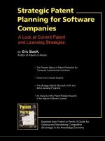 Strategic Patent Planning for Software Companies