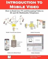 Introduction to Mobile Video