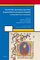 Quaestiones super libros De generatione et corruptione Aristotelis