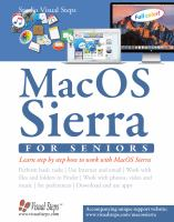 Mac OS X (new version of 2016) for Seniors: The perfect computer book for people
