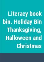 Literacy book bin. Holiday Bin Thanksgiving, Halloween and Christmas.