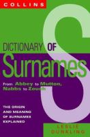 Dictionary Of Surnames