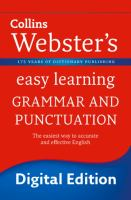 Collins Webster's Easy Learning Grammar and Punctuation