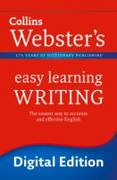 Collins Webster's Easy Learning Writing