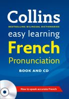 Collins Easy Learning French Pronunciation
