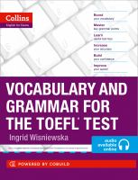 Collins Vocabulary And Grammar For The TOEFL Test