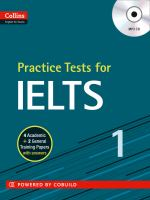 Practice Tests for IELTS [includes MP3 CD]