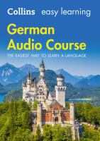 Collins Easy Learning Audio Course - German : The Easiest Way to Learn A Language