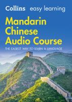 Collins Easy Learning Audio Course - Mandarin Chinese : The Easiest Way to Learn A Language