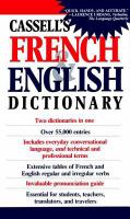 Cassell's French and English Dictionary