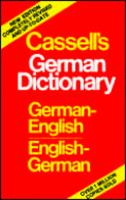 Cassell's German-English, English-German Dictionary