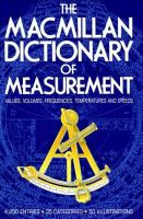 The Macmillan Dictionary of Measurement