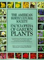 The American Horticultural Societ Encyclopedia Of Garden Plants