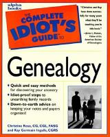The Complete Idiot's Guide to Genealogy