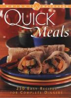 Weight Watchers Quick Meals