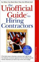 The Unofficial Guide to Hiring Contractors