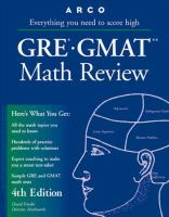 GRE-GMAT Math Review