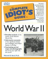 The Complete Idiot's Guide to World War II
